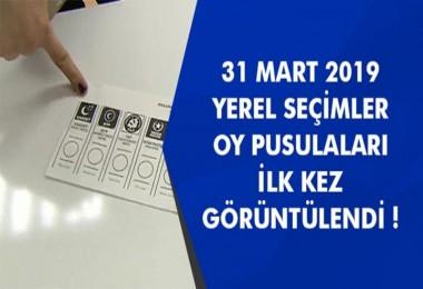 31 Mart yerel seçimi oy pusulaları belli oldu!