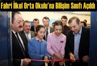 Fahri İlkel Orta Okulu'na Bilişim Sınıfı Açıldı