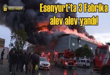 Esenyurt'ta 3 fabrika alev alev yandı!