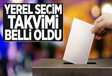 YSK'nın yerel seçim takvimi belli oldu