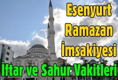 Esenyurt Ramazan İmsakiyesi
