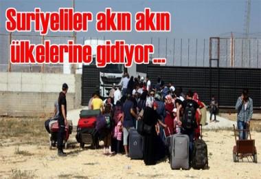 Suriyeliler akın akın ülkelerine gidiyor...