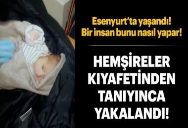 Suriyeli kadın 5 günlük bebeğini cami avlusuna bıraktı