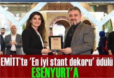 EMİTT'te 'En iyi stant dekoru' ödülü Esenyurt'a