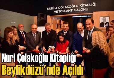 Nuri Çolakoğlu Kitaplığı Beylikdüzü'nde Açıldı