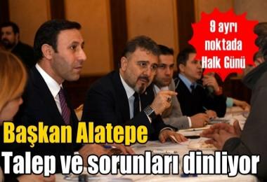 Başkan Alatepe talep ve sorunları dinliyor