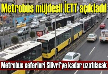 Metrobüs müjdesi!