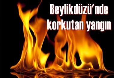 Beylikdüzü'nde korkutan yangın