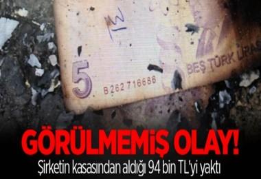 94 bin TL'yi yaktı