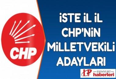 CHP'nin milletvekili adayları listesi