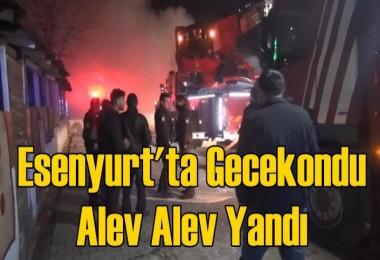 Esenyurt'ta gecekondu alev alev yandı