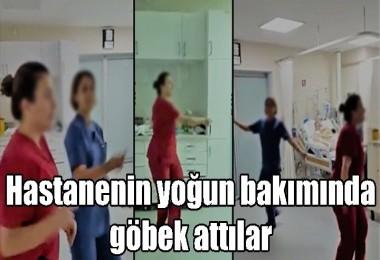 Hastanenin yoğun bakımında göbek attılar