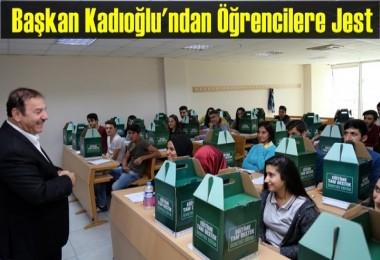 Başkan Kadıoğlu'ndan Öğrencilere Jest
