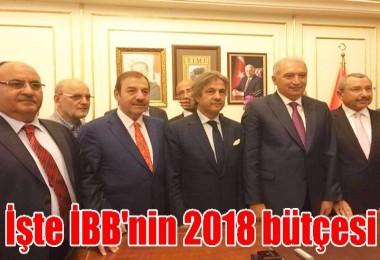 İşte İBB'nin 2018 bütçesi