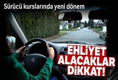 Sürücü kurslarına sınırlama