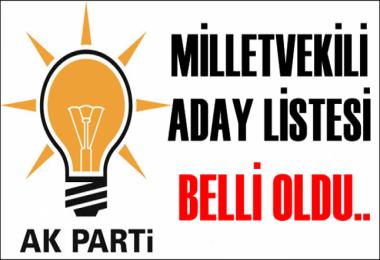 AK Parti milletvekili aday listesi belli oldu