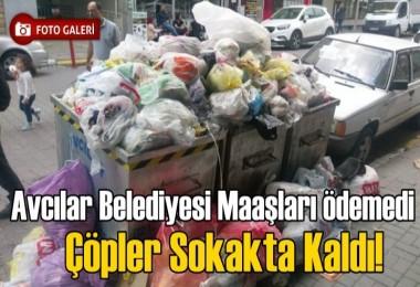 Avcılar Belediyesi Maaşları ödemedi, çöpler sokakta kaldı