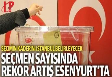 Seçimin kaderini İstanbul belirleyecek: Seçmen sayısındaki rekor artış Esenyurt'ta