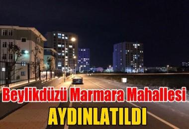 Marmara Mahallesi'nin yolları andınlatıldı