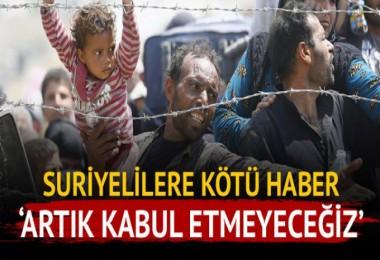 Suriyelilere Kötü Haber