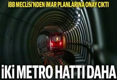 İki metro hattı planına onay