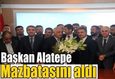Başkan Alatepe Mazbatasını aldı