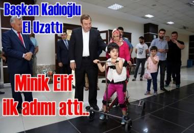 Minik Elif'in ilk adımı