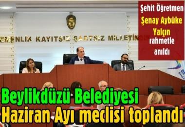Beylikdüzü Belediyesi Haziran Ayı meclisi toplandı