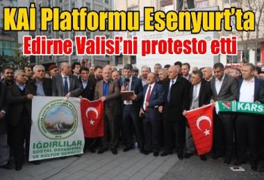 KAİ Platformu Esenyurt'ta Edirne Valisi'ni protesto etti