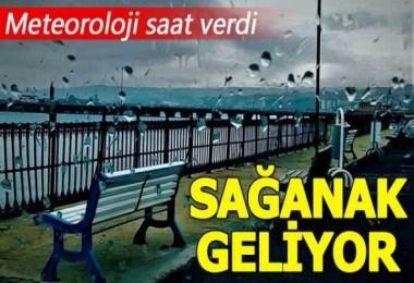 İstanbul'a sağanak uyarısı