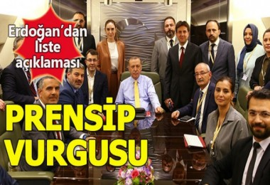 Cumhurbaşkanı Erdoğan'dan liste açıklaması