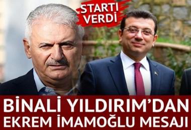 Binali Yıldırım, İstanbul'da startı verdi! Ekrem İmamoğlu mesajı