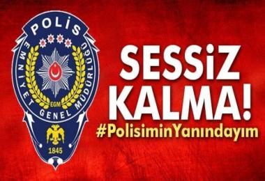 Türkiye polisi için omuz omuza