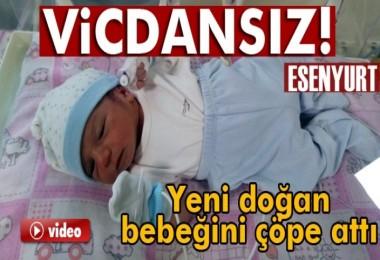 Bir anne yeni doğan bebeğini çöpe attı