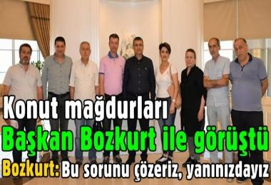 Konut mağdurları Başkan Bozkurt ile görüştü