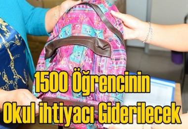1500 Öğrencinin Okul ihtiyacı Giderilecek