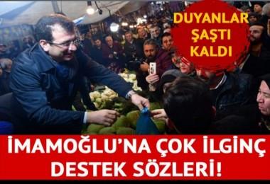 Pazarda lahana satan İmamoğlu'na ilginç destek: 'Elimi bağlasalar ayağımla oy veririm'