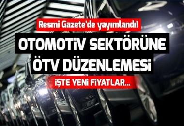 Otomotiv sektörüne ÖTV düzenlemesi