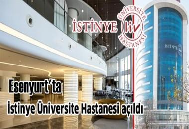 İstinye Üniversite Hastanesi Açıldı