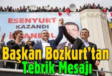 Başkan Bozkurt'tan Tebrik Mesajı