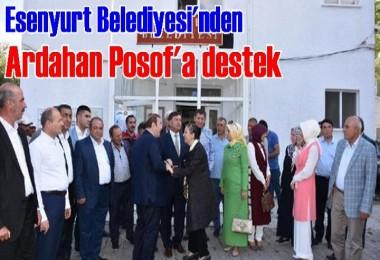 Esenyurt Belediyesi'nden Posof'a destek