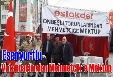 Esenyurtlu Vatandaşlardan Mehmetçik'e Mektup