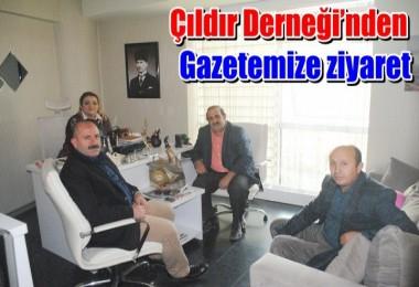 Çıldır Derneği'nden gazetemize ziyaret