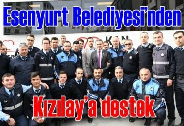 Esenyurt Belediyesi'nden Kızılay'a destek