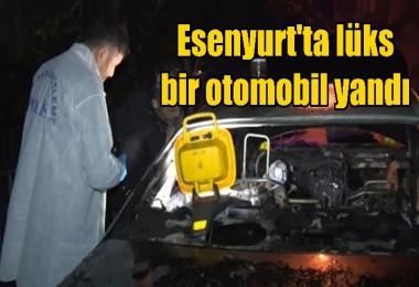 Esenyurt'ta lüks bir otomobil yandı