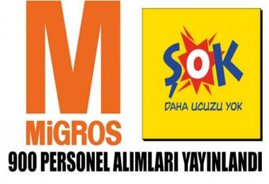 Migros ve ŞOK 900 Personel Alacak