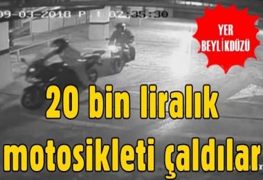 Beylikdüzü'nde 20 bin liralık motosikleti çaldılar