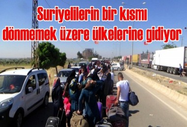 Suriyelilerin bir kısmı dönmemek üzere ülkelerine gidiyor