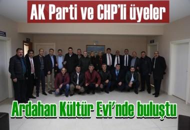 AK Parti ve CHP'li üyeler, Kültür evi'nde buluştu