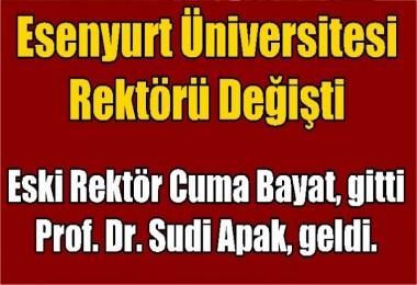 Esenyurt Üniversitesinin Rektörü Değişti